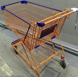 Einkaufswagen pulverbeschichtet